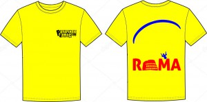 yellow CLUBPR front-rear t-shirt